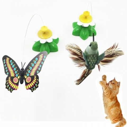 Electric Cat Toy Butterfly Bird Automatic Rotation Funny Cat Toy Funny Cat Stick BIRDS 288