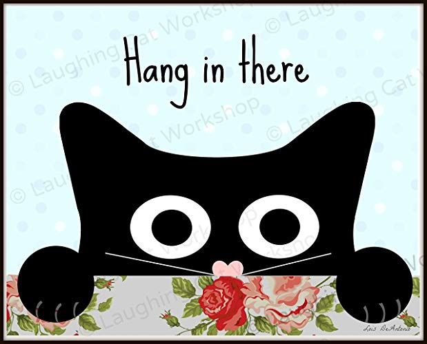 Hang in there Funny Cat Meme ics cartoon Cute Baby Nursery Decor Children s room decor Inspirational Quote Print Back to School Nurse School Counselors