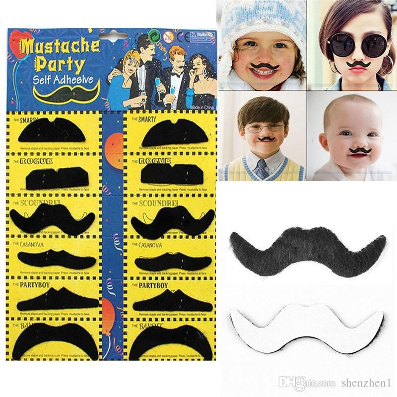 Halloween Party Costume Fake Mustache Moustache Funny Fake Beard Whisker Party Costume For Adult Kids DHL Free OTH584 UK 2019 From Superbestway