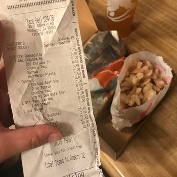 of Taco Bell Modesto CA United States Asked for a subst