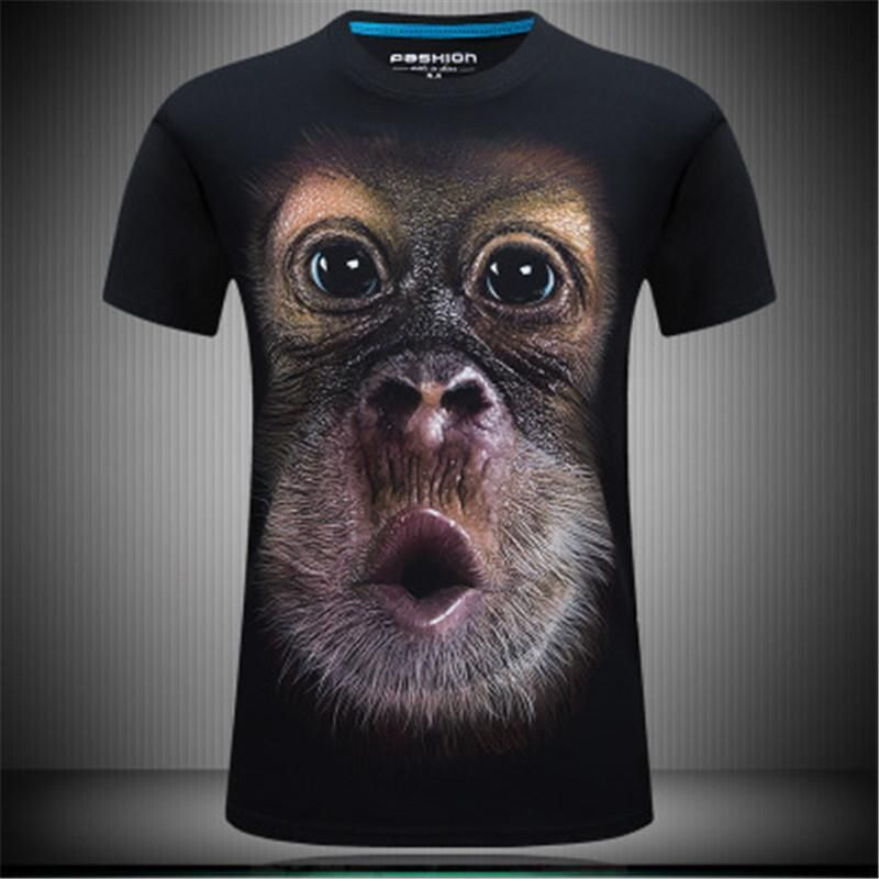 2018 Summer New Men S Animal 3d Three Dimensional Printing Round Neck Pullover Short Sleeved T Shirt O Neck La s Breathable fort Shirt Go T Shirts