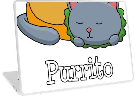 Purrito Funny Cat Burrito Pun by fatamyfan1