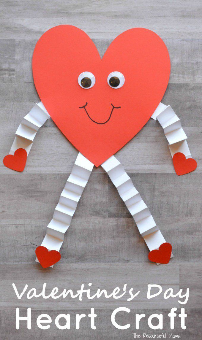 This heart person is a fun and easy Valentine s Day craft for kids