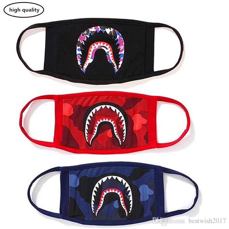 Shark Face Mask Cotton Mask Funny Anti Dust Face Mask Ski Cycling Camping Half Face Mouth Masks For Boys And Girls Sulfur Face Mask Wrestling Face Mask From
