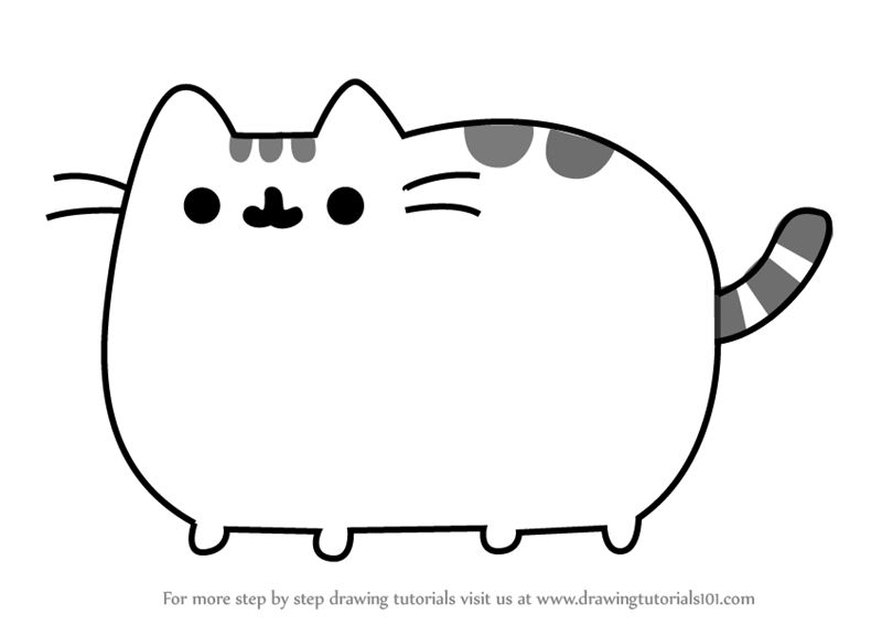 800x567 Learn How To Draw Pusheen The Cat Memes Step By Step Drawing