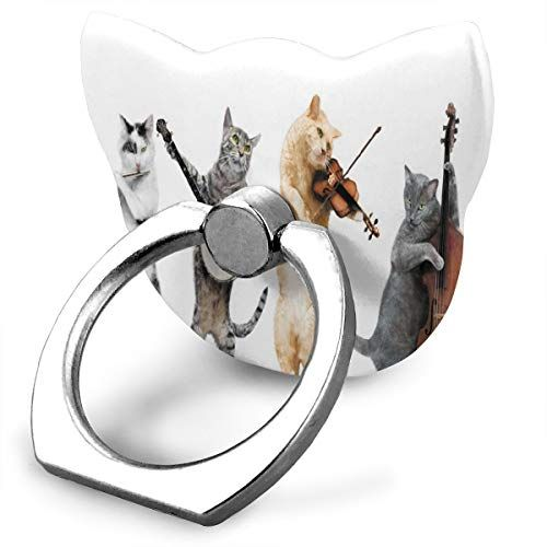 Cell Phone Holder Funny Cat Music Cat Type Ring Phone Holder Adjustable 360° Rotation Phone Finger Holder for IPad Phone X 6 6s 7 8 8 Plus 7 Galaxy S9 S9