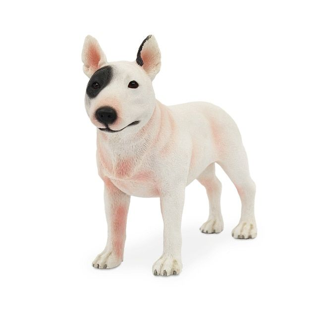 Cute White Bull Terrier Model Ornaments Resin Crafts Simulation Gift Car Dog Home Decorative
