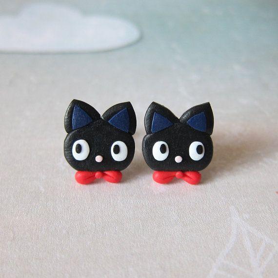 Black Cat Earrings My Neighbour Totoro Jiji Cat Earrings Birthday Gift Idea Funny Earrings Girls Jewelry Cat Lovers Gifts For Friends