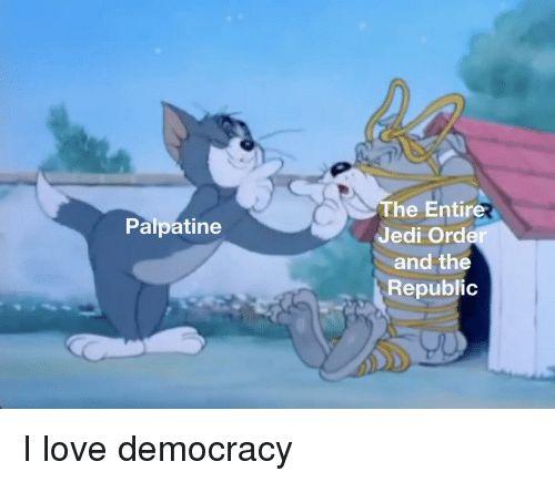 Jedi Love and Democracy The Entire Jedi Order and the Republic Palpatine oD