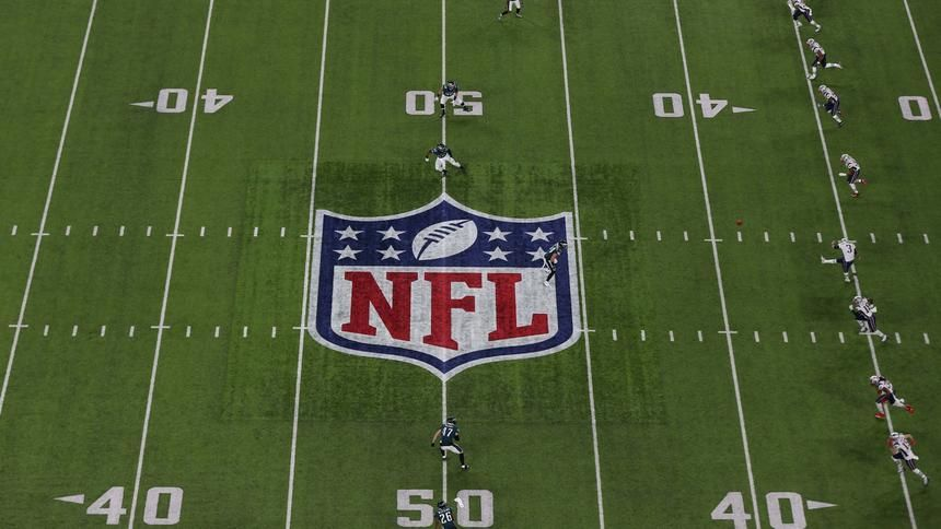 General view of the opening kickoff in Super Bowl LII between the Philadelphia Eagles and the
