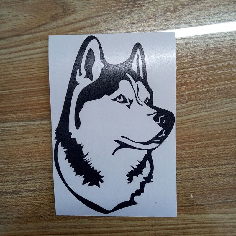 New Style Car Styling Funny Animal Husky Dog Personality Attractive Car Sticker Vinyl Decal Jdm in Car Stickers from Automobiles & Motorcycles on