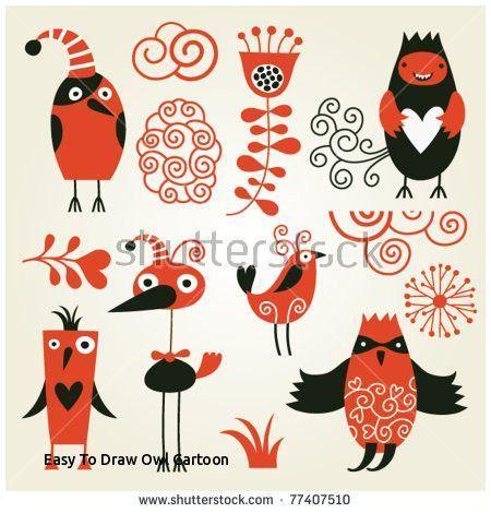¢Ë†Å¡ Cute Owl Drawing for Kids and Easy to Draw Owl Cartoon Set Od Cute Cartoon