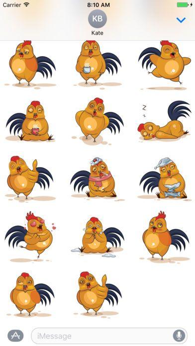 Screenshot 2 for Sticker Me Funny Chicken