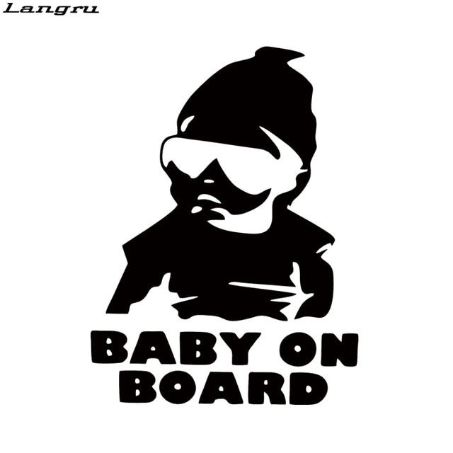 Langru New Style Baby Board Funny Cute Car Styling Hangover Car Motorcycle Decorative Vinyl Decal JDM