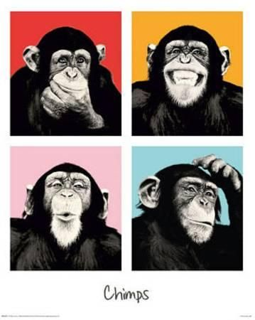 the chimp pop art print poster u L F5BC7Q0