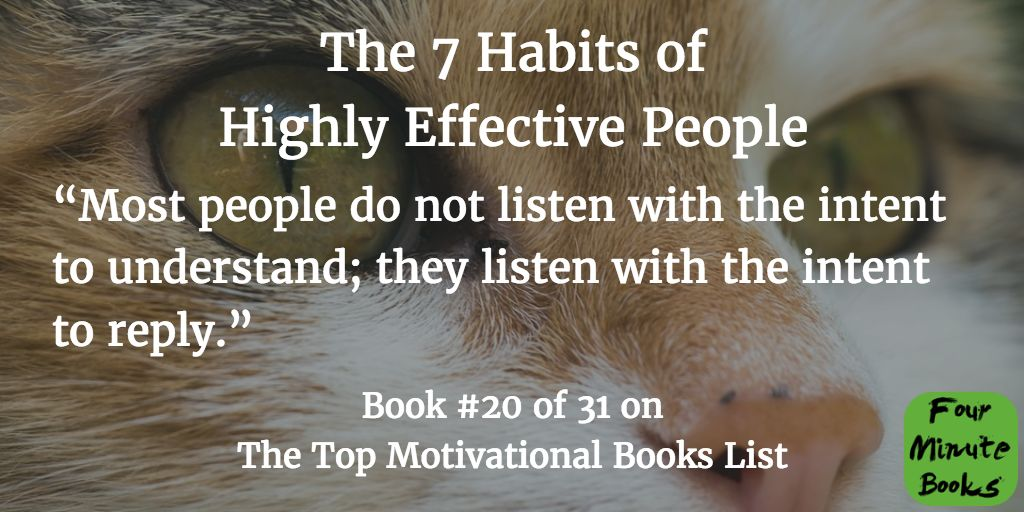 Top Motivational Books Quote 20 The 7 Habits of Highly Effective People