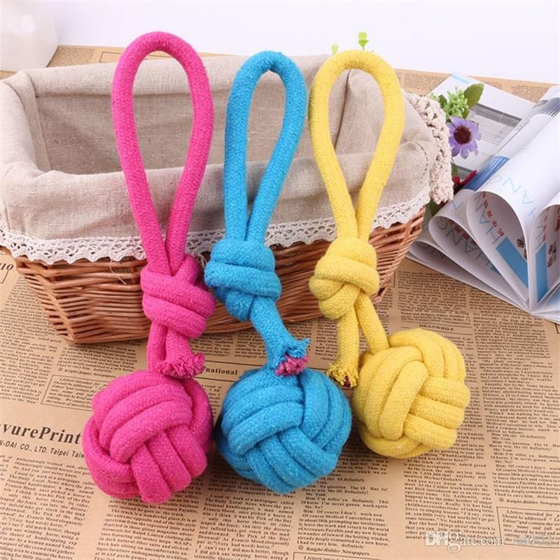 2019 Dog Chew Rope Pet Supplies Puppy Cotton Durable Braided Funny Tool Single Knot Toy Pets Chews Knots Play Hot Sale 3rca Z From Sd002 $1 08