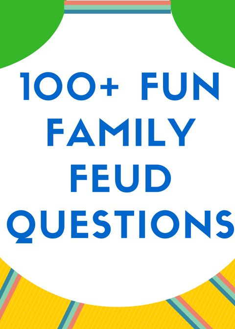 100 Fun Family Feud Questions and Answers