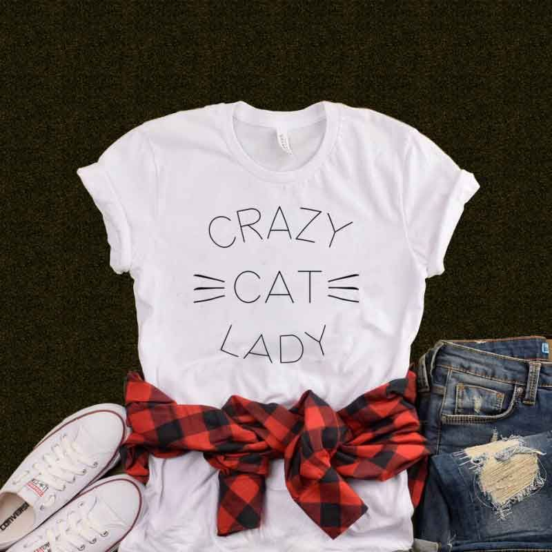T Shirt Crazy Cat Lady Clotee Tumblr Aesthetic Clothing & T Shirts Store