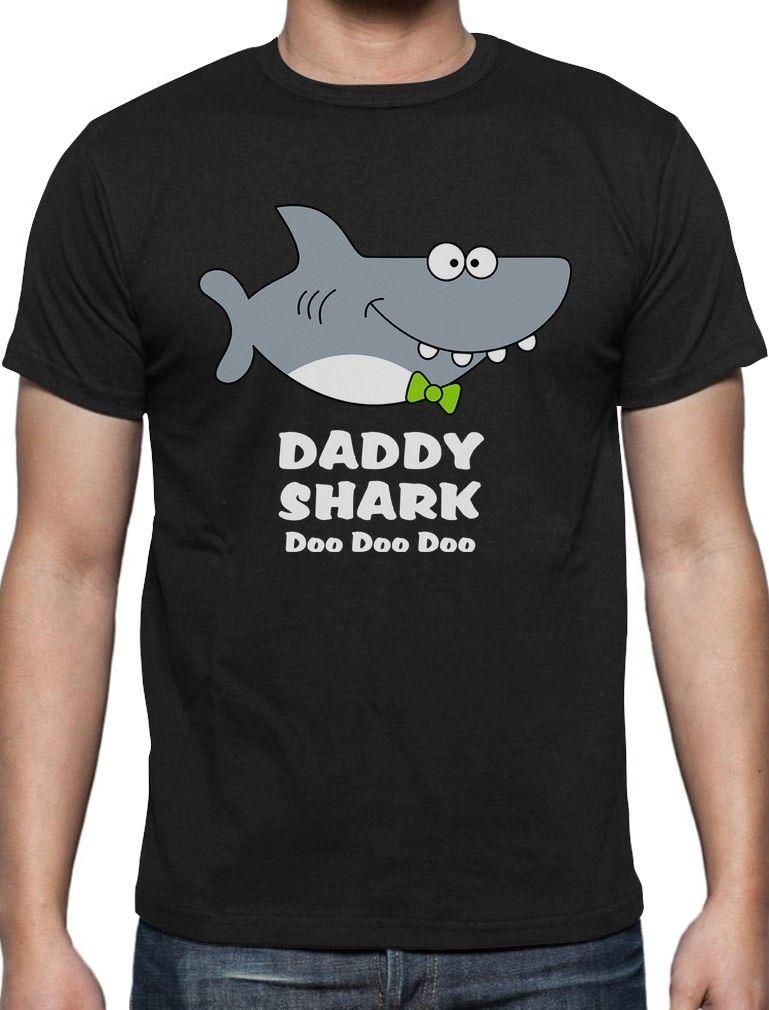 Daddy Shark Doo Doo Doo Funny Father Day Gift For Dad T Shirt Ocean Beach Summer Cool Shirt Designs T Shirt Quotes From Lm31tshirt $12 05 DHgate