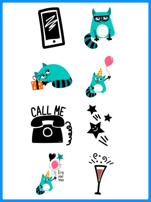 Granny Cat Funny Stickers App 4