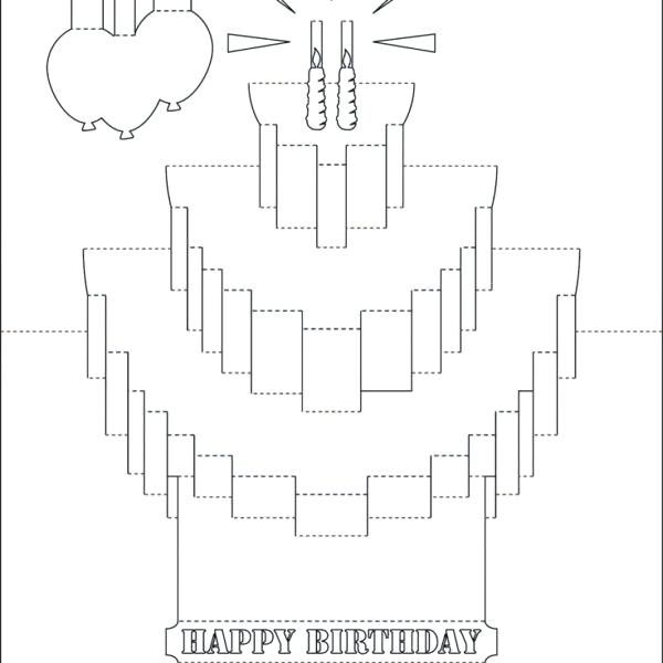pop up birthday card templates free printable throughout funny cards no