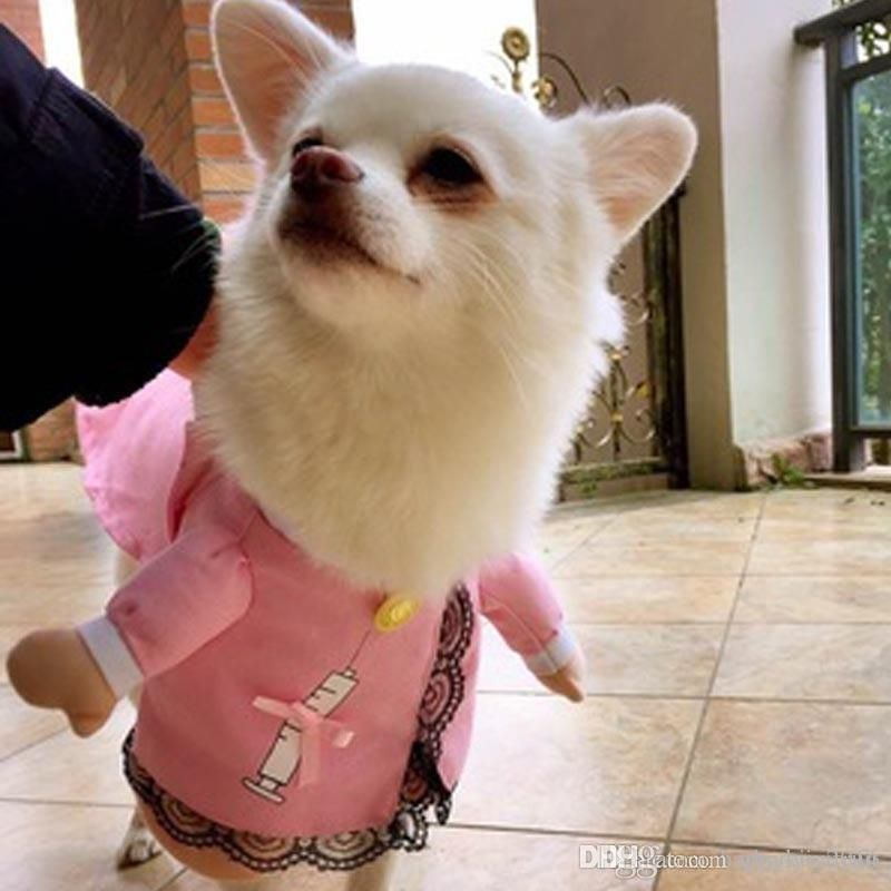 Pet Cat Dog Cosplay Nurse Costume Cosplay Funny Small Medium Dog Puppy Party Dress Jacket Coat Clothes For Chihuahua Teddy UK 2019 From Zhaoyi 2016