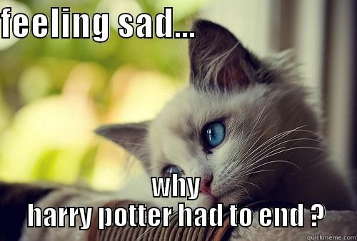 Sad Cat FEELING SAD WHY HARRY POTTER HAD TO END