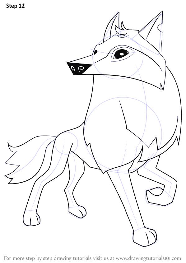 How to Draw A Easy Wolf Face Learn How to Draw Arctic Wolf From Animal Jam