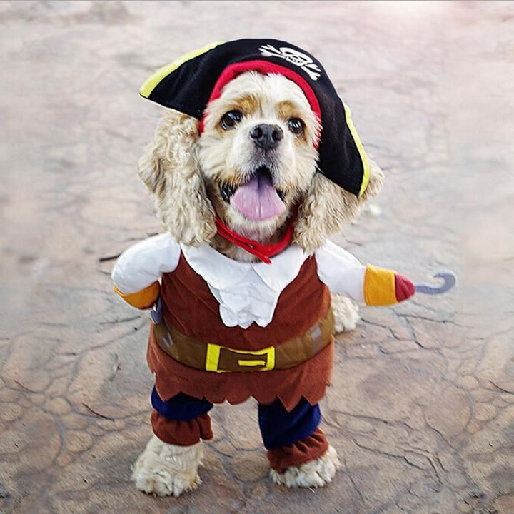 Pirates of the Caribbean Funny Halloween Costume for Dog Cute Halloween Christmas Clothing
