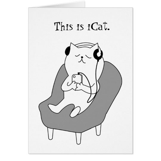 icat funny cat with headphones music lover card rf1be1d976a5346b6a64ec99dba86e3c3 xvuat 8byvr 540