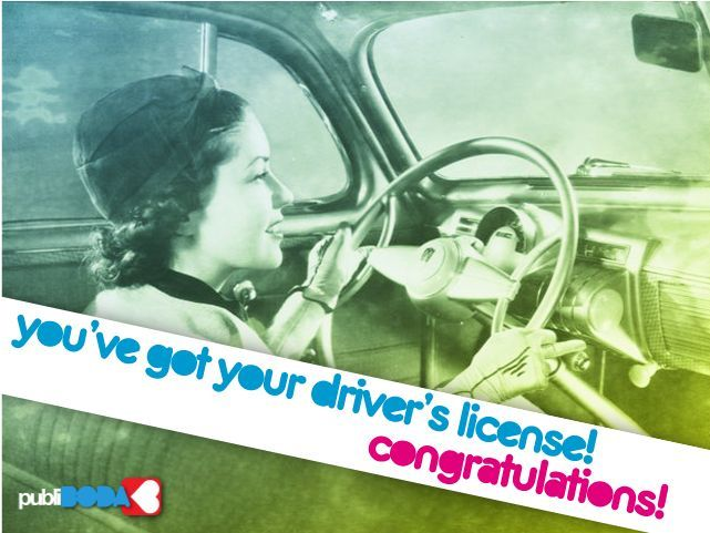 Congratulations on ting your driver s license