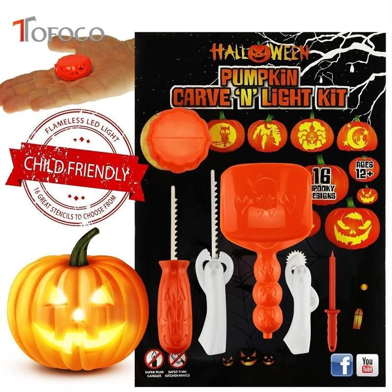 TOFOCO Funny Halloween Pumpkin Carving Tool Toys For Kids Adult DIY Halloween Patterns UK 2019 From Sightly UK $$22 12