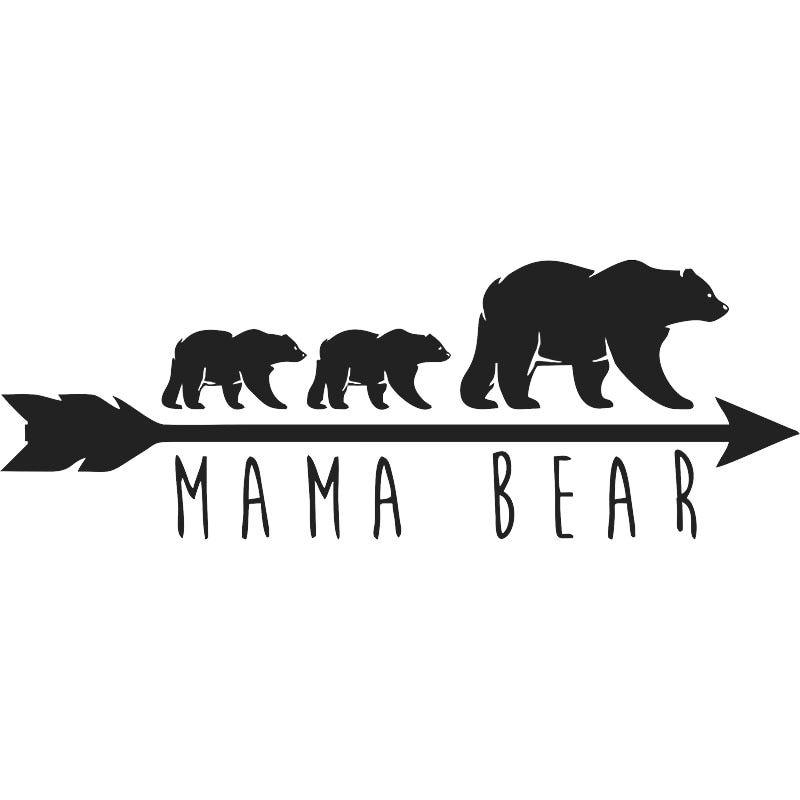Funny Fashion Mama Bear Silhouette Decor Decal Vinyl Car Sticker