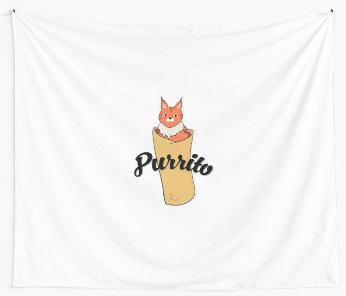 Purrito Funny Cat Lovers Gift Burrito Kitten Pun by Blazesavings