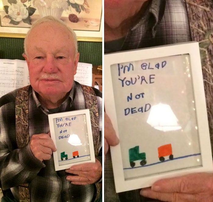 "5 Kid s ""Glad You re Not Dead"" Gift To Grandpa"