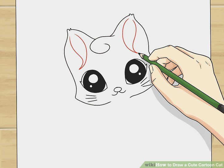 Image titled Draw a Cute Cartoon Cat Step 3