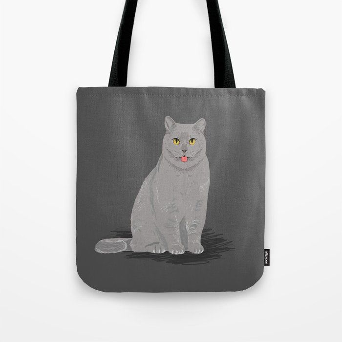 Grey cat egyptian mau cute meme cat funny grey cat breed cat lady ts must haves for cat person Tote Bag by petfriendly