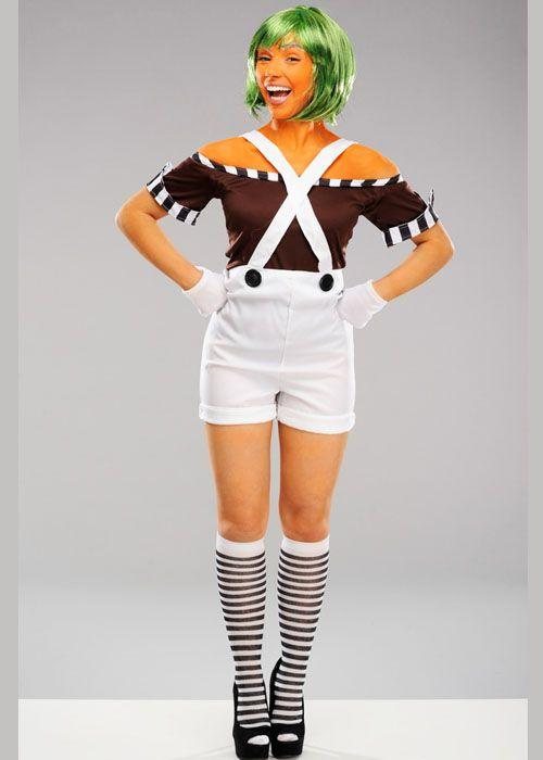 Adult Womens Oompa Loompa Style Costume