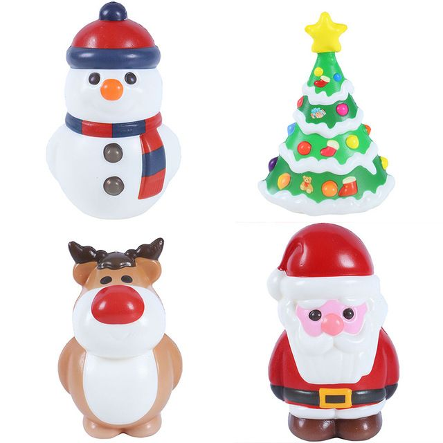 Christmas Tree Santa Claus Reindeer Snowman Squishy Slow Rising Kawaii Unicorn Squish Soft Animal Squeeze Antistress Kids Toys