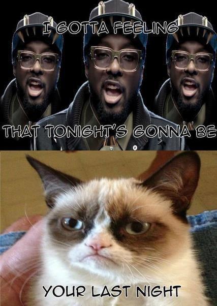 Grumpy cat Good night meme