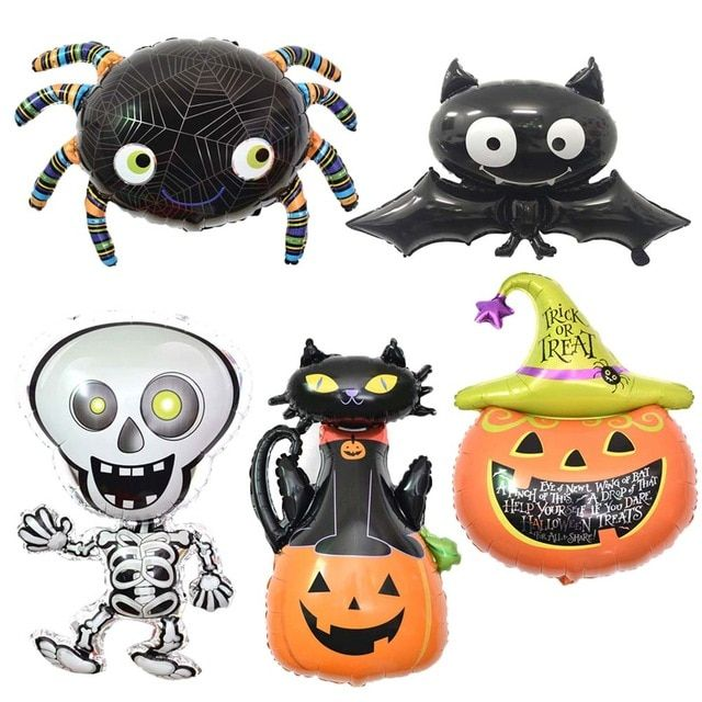 10pcs Funny Lovely Foil Balloon Inflatable Balls Air Halloween Decoration Cartoon Reusable For Party XH8Z AU07