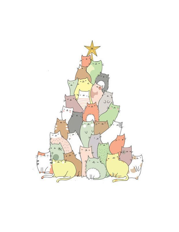 These cats form a better Christmas tree than a normal tree