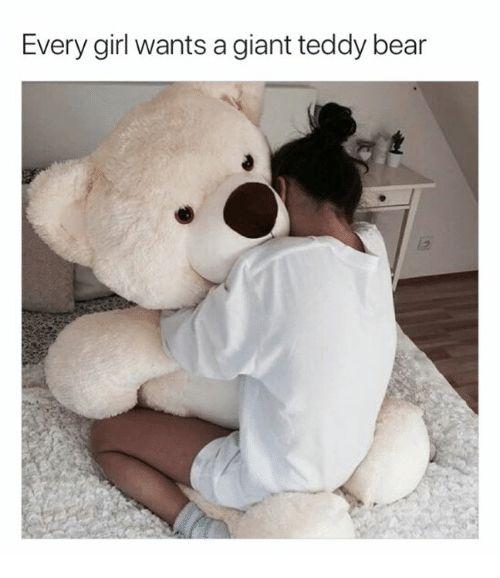 Bear Giant and Girl Every girl wants a giant teddy bear
