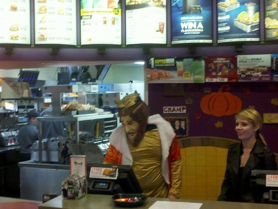 At Taco Bell today