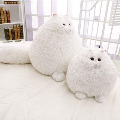 Dorimytrader New Cute cat 20 50cm Super Lovely Plush Funny Soft Stuffed Giant Animal Persian Cat Toy Girls Gift White Cat Doll
