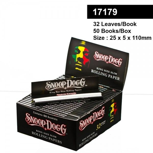 Snoop Dogg smoking King size slim rolling papers 32 leaves per book 50 books per box Papers & Rolls Rolling Equipment HEADSHOP