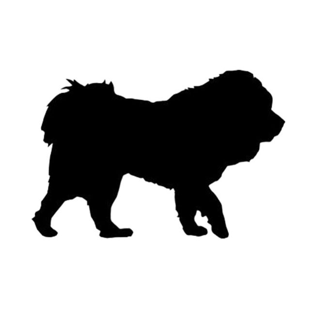 12 7 8 5CM Tibetan Mastiff Dog Funny Window Decoration Animal Car Sticker Classic Motorcycle Decals C6 1733