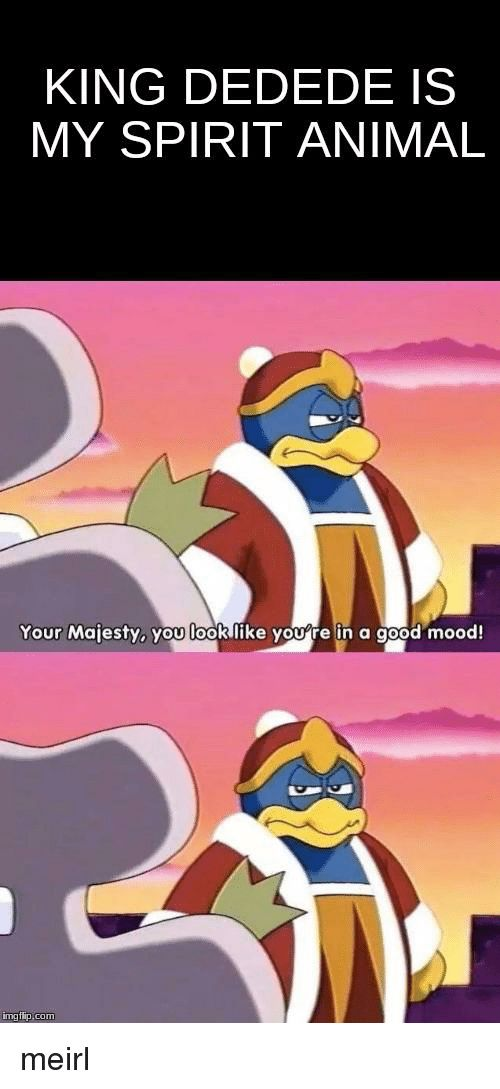 Mood Animal and Good KING DEDEDE IS MY SPIRIT ANIMAL Your Majesty