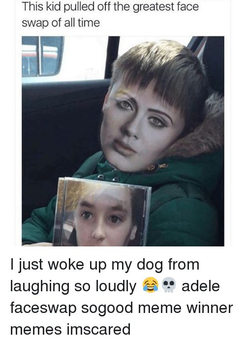 Adele Dogs and Meme This kid pulled off the greatest face swap of